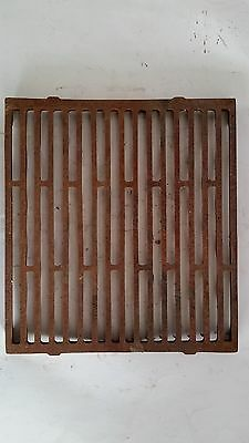 Antique Cast Iron Floor Heat Ventilation Register Grate,Cellar Floor Water Drain