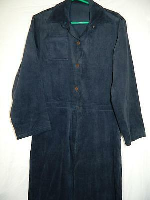 Vintage American navy blue corduroy coveralls, chore, workwear overalls - M/L -