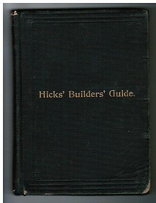 1895 Houses Building Builder Contractor Carpenter Estimating Construction Book