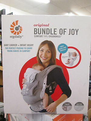 Ergobaby 3 Position Original Bundle of Joy Baby Carrier with Infant Insert NEW