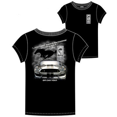 Apparel T-Shirt Short Sleeve Shelby GT350 Racehorse Black X-Large