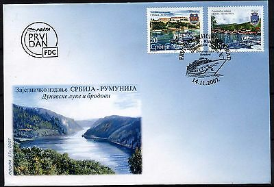 4924 Serbia 2007 Danubian Harbours and Ships  FDC