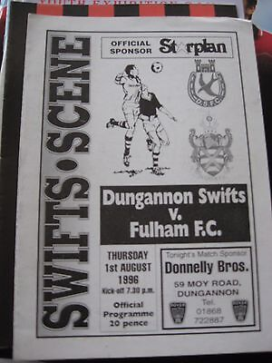 1.8.1996 Dungannon Swifts v Fulham Friendly