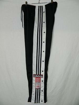 Mens 90's Adidas popper pants. Drawstring and elasticated waist poppers on leg M