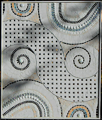 Circles & Swirls Mosaic Art Panel  REDUCED FOR CLEARANCE!