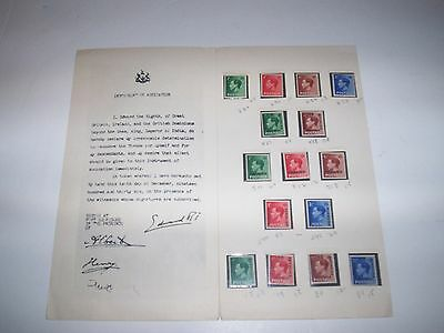Great Britain Edward VIII lot of early issues presentation MINT ~ Hard to FIND