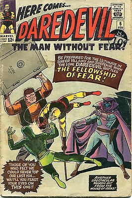 Daredevil #6 - 1St Appearance Of Mr.fear And Fellowship Of Fear - Wally Wood Art