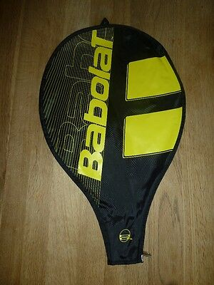 Babolat Tennis Racket Cover Black Yellow to Fit 25 inch or 24 inch Racket