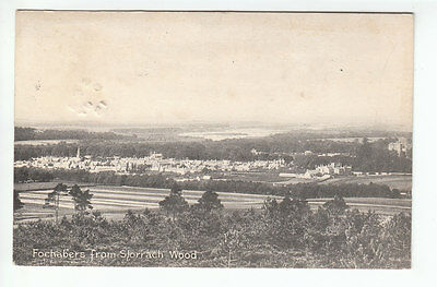 Fochabers From Slorrach Wood Moray 9 Jul 1915 Allan Finzean Aberdeen Old PC