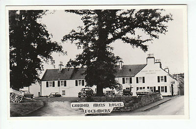 Gordon Arms Hotel Fochabers Moray 1950's Cars Real Photograph Old Postcard