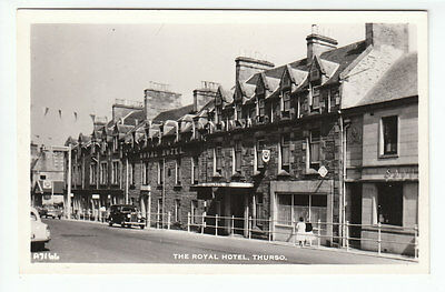 The Royal Hotel Thurso Caithness 1950's Real Photograph JB White A7166 Old PC