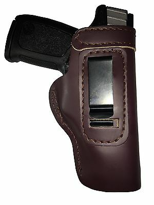 LT CUSTOM MAHOGANY IWB Leather Gun Holster YOU CHOOSE:rh,lh-laser-slide-belt-mag