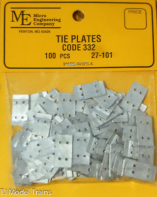 Micro Engineering, Inc. G #27101 Tie Plates for: Code 332 (100)