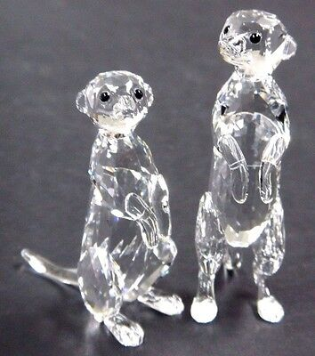 Meerkats Clear Set Rare Encounters Animals 2016 Swarovski Crystal  #5135929