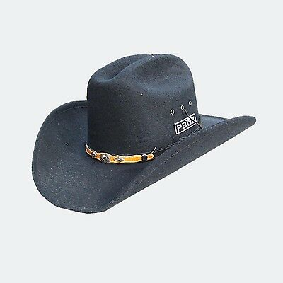 Adults Cowboy Cowgirl Hat felt black rodeo Horse Riding Boy Girl Bull Country