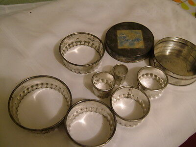 Set of Vintage Tala crinkle pastry cutters 7 in all in tin.