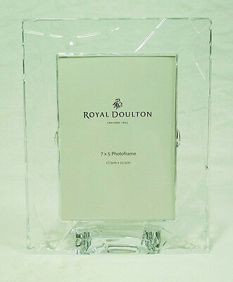 Royal Doulton England Fine Lead Crystal Glass Photo Picture Lunar Frame
