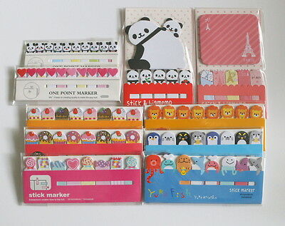 KAWAII GRAB BAG LOT Sticky Notes Page Flag Memo Post it Bookmark Stationery 002