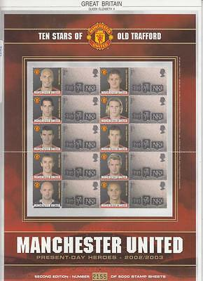 GB - LS21d 10 STARS OF OLD TRAFFORD MANCHESTER UNITED HEROES SMILERS SHEET