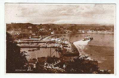 Rothesay West Isle Of Bute 1930 Real Photograph Used 4 Apr 1933 Watson Giffnock