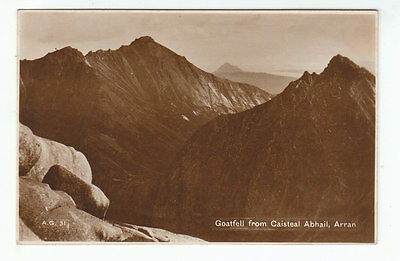 Goatfell Caisteal Abhail Isle Of Arran 1935 Real Photograph Macdonald Lamlash