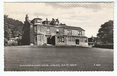 Altachorvie Guest House Lamlash Isle Of Arran 1935 Real Photograph Valentines