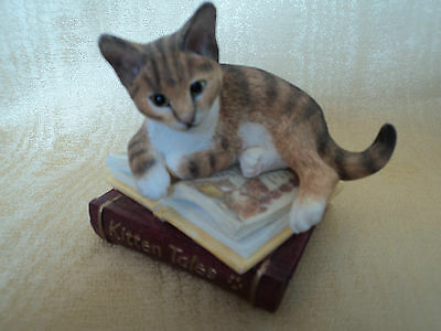 Vintage (Country Artists) Cat On Books-Kitten Tales - (Mint Condition) Gorgeous.