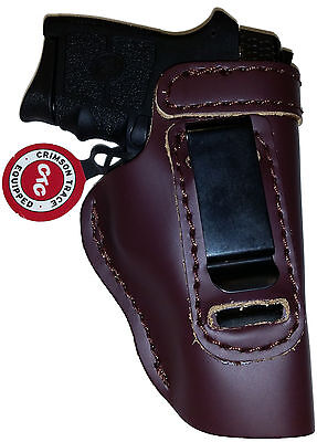 LT CUSTOM MAHOGANY OWB Leather Gun Holster YOU CHOOSE:rh,lh-laser-slide-belt-mag
