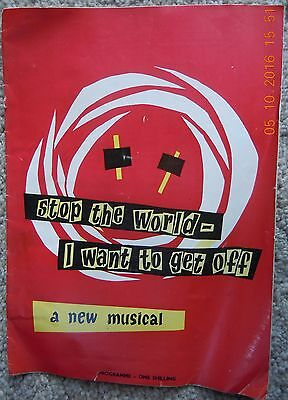 Queen's Theatre Programme - Stop The World - I Want To Get Off - July 1961
