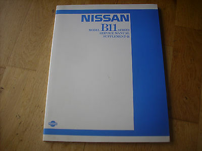 Nissan / Datsun Sunny B11 Series Service Manual Supplement 11