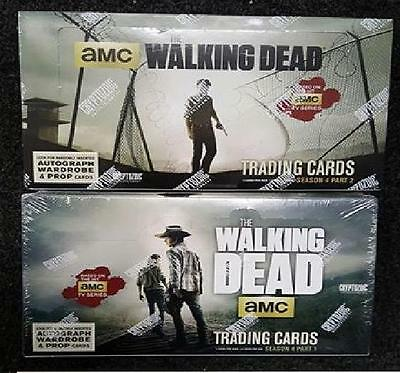 The Walking Dead Season 4 Part 1 & Part 2 Trading Cards Sealed Hobby Boxes