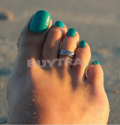 Hot Silver Toe Ring Metal Material Sterling Silver Jewelry Hawaiian Beach HF