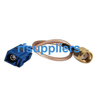 Fakra C Female to RP SMA male Extension Cable RG316 15cm for WiFi Antenna