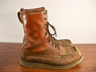 Vintage Red Wing Irish Setter Men's Work Hunting Leather Crepe Sport Boots 8.5 E