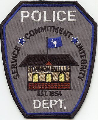 TIMMONSVILLE SOUTH CAROLINA SC Service Commitment Integrity POLICE PATCH