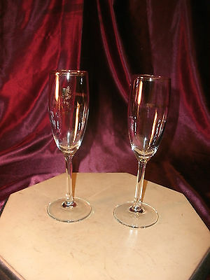 """2 Champagne flutes - """"Simply Grand 1991"""" - Affiliated National Bank-Lakeside"""""""