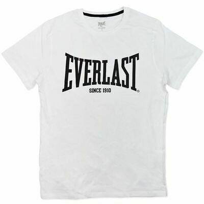 Mens White Everlast Short Sleeve Cotton Casual Sports Tee ..Top .. T.Shirt