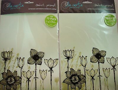 2 x 10pk A4 Premium 120gsm Card Paper Cool Green Craft DIY FREE POSTAGE