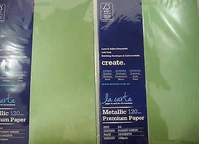 2 x 10pk A4 Premium 120gsm Card Paper Forest Green Craft DIY FREE POSTAGE