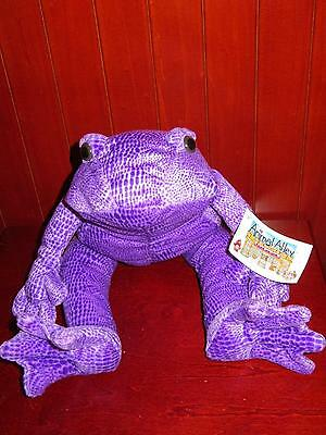 """NWT 18"""" Animal Alley FROG PURPLE Toad Leap Frog Plush Stuffed Animal Toys R Us"""