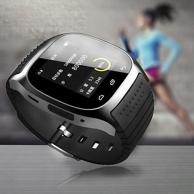 New Bluetooth Wrist Smart Watch For Android & IOS Devices With Mic Speaker Black