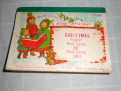 Christmas cards Penny Postcards pack vintage mid-century