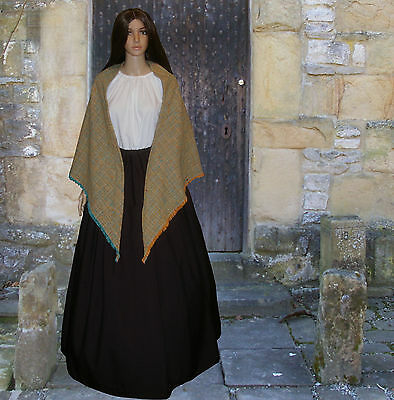 Ladies Victorian peasant mill worker 3pc costume fancy dress size 10-12
