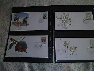 4 First Day Covers  Finland '89  Virgin Isles '91 & 2 Cape Verde.. Perfect !