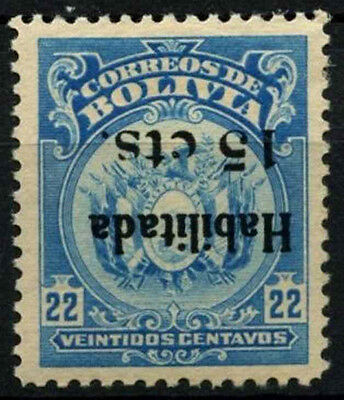 Bolivia 1923-1924 SG#168a 15c On 22c Surch Inverted Error MNH #D39450