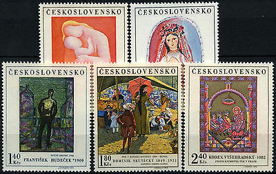 Czechoslovakia 1970 SG#1914-8 Art MNH Set #D39019