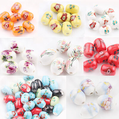 Lot 5/10/20Pcs Ceramic Porcelain Flower Loose Spacer Beads Jewelry Accessory