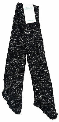 Roch Valley Dancer Stirrup Legwarmers Glitter Sparkle Blk/ White O/S RRP£4 *BNWT