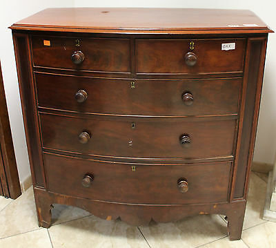 Antique Chest Of Drawers - Victorian Age -  Mahogany Wood Cm3