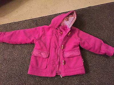 Dunnes Pink Duffle Coat Age 4-5( Fits 5-6)